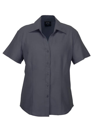 Biz Collection-Biz Collection Ladies Plain Oasis Shirt-S/S-Charcoal / 6-Uniform Wholesalers - 4