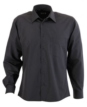 identitee-Identitee Mens Rodeo Long Sleeve-Charcoal / S-Uniform Wholesalers - 3