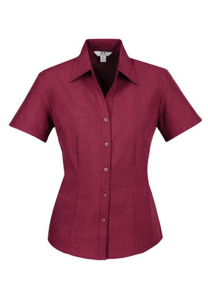 Biz Collection-Biz Collection Ladies Plain Oasis Shirt-S/S-Cherry / 6-Uniform Wholesalers - 5