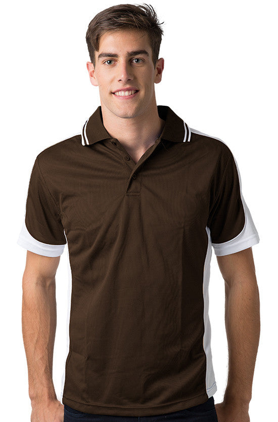 Be Seen-Be Seen Men's Polo Shirt With Striped Collar 2nd( 8 Color )-Chocolate-White-White / XS-Uniform Wholesalers - 7