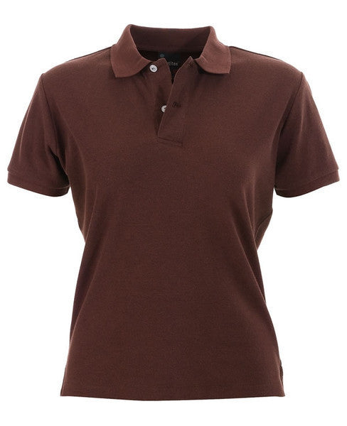 identitee-identitee Ladies Venice Slim Cut Polo Shirt-Chocolate / 8-Uniform Wholesalers - 3