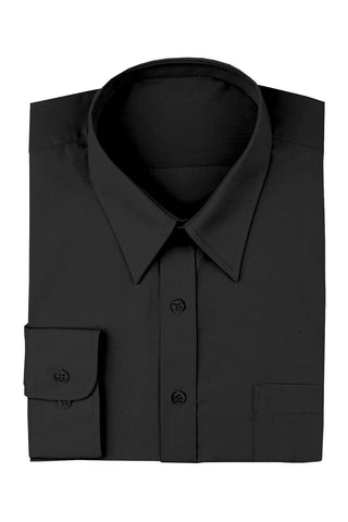 Chef Works-Chef Works Men's Black Dress Shirt-S / Black-Uniform Wholesalers
