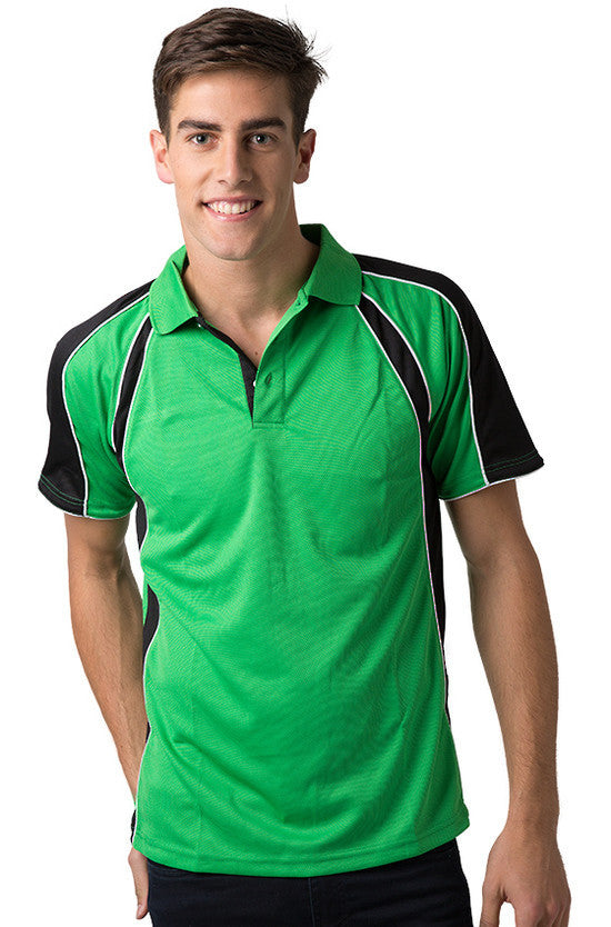 Be Seen-Be Seen Men's Polo Shirt With Contrast Sleeve 1st( 8 Color )-Emerald-Black-White / XS-Uniform Wholesalers - 7