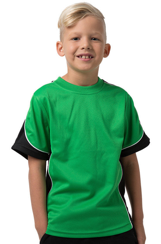 Be Seen-Be Seen Kids Short Sleeve T-shirt-Emerald-Black-White / 6-Uniform Wholesalers - 2