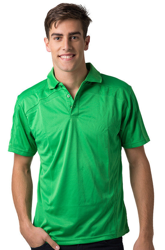 Be Seen-Be Seen Adults Polo Shirt With Contrast Side And Shoulder Panel-Emerald / S-Uniform Wholesalers - 6
