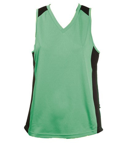 Australian Spirit-Aus Spirt Olympikool Ladies Singlet 1st ( 10 Colour )-Emerald/Black / 8-Uniform Wholesalers - 11