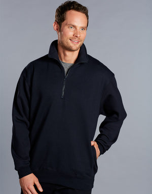 Winning Spirit 1/2 Zip Fleecy Sweat Top (FL02)