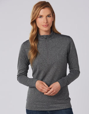 Winning Spirit Ladies Half Zip Long Sleeve Sweat Top (FL26)