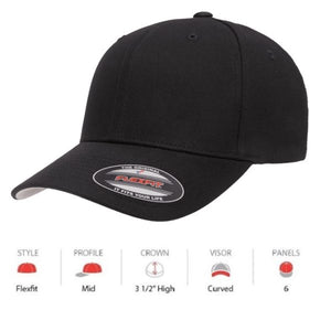FLEXFIT Cotton Twill Cap -(5001 V)