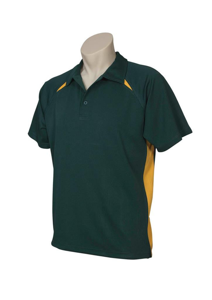 Biz Collection-Biz Collection  Mens Splice Polo 1st ( 10 Colour )-Forest / Gold / Small-Uniform Wholesalers - 7