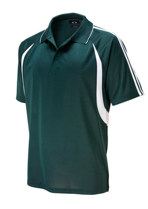 Biz Collection-Biz Collection Mens Flash Polo 1st (  9 Colour )-Forest / White / Small-Uniform Wholesalers - 6