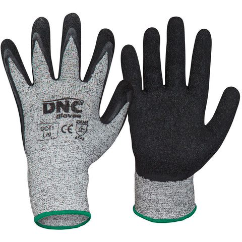 DNC Workwear-DNC Cut5-Latex-S / Black/Grey-Uniform Wholesalers