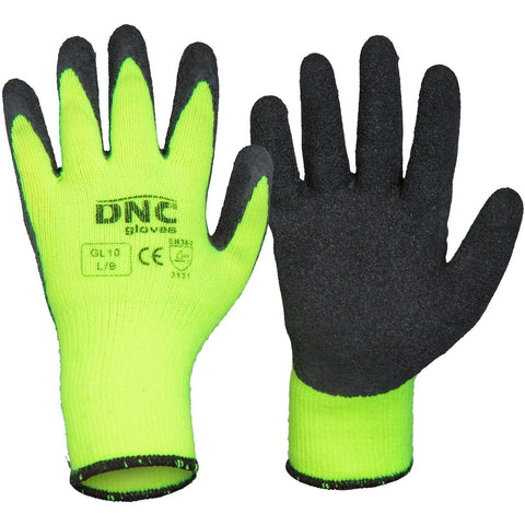 DNC Workwear-DNC Latex - Warmer-S / Black/HiVis Yellow-Uniform Wholesalers