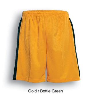 Bocini-Bocini Adults Soccer Shorts-Gold/Bottle Green / S-Uniform Wholesalers - 3
