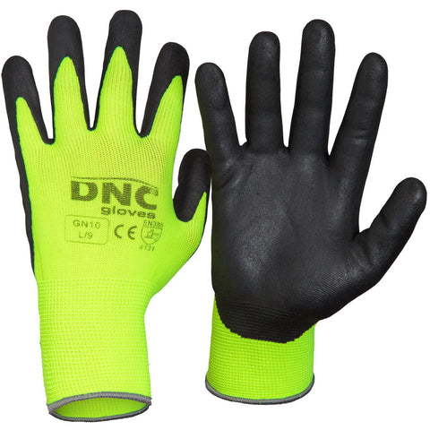 DNC Workwear-DNC HiVis Nitrile Supaflex-S / Black/HiVis Yellow-Uniform Wholesalers