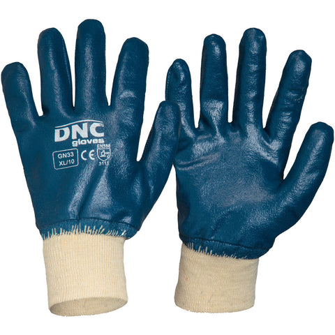 DNC Workwear-DNC Blue Nitrile Full Dip-M / Blue/Nature-Uniform Wholesalers
