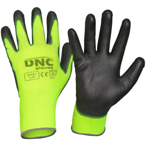 DNC Workwear-DNC PU - Basic-XS / Black/HiVis Yellow-Uniform Wholesalers