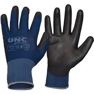 DNC Workwear-DNC PU-Premium-XS / Black/Blue-Uniform Wholesalers