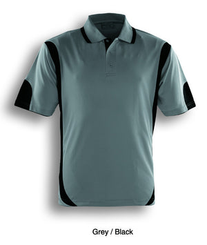Bocini-Bocini Adults Breezeway Contrast Polo(1st 12 colors)-Grey/Black / S-Uniform Wholesalers - 8