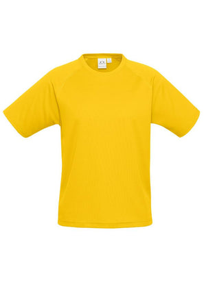 Biz Collection-Biz Collection Mens Sprint Tee-Gold / S-Uniform Wholesalers - 3