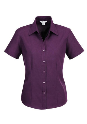 Biz Collection-Biz Collection Ladies Plain Oasis Shirt-S/S-Grape / 6-Uniform Wholesalers - 7