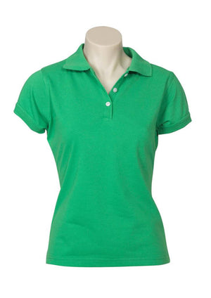 Biz Collection-Biz Collection Ladies Neon Polo-Green / 6-Uniform Wholesalers - 4