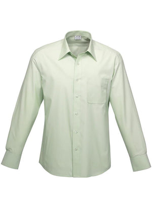 Biz Collection-Biz Collection Mens Ambassador Long Sleeve Shirt-Green / S-Uniform Wholesalers - 1