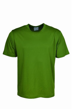 Bocini-Bocini Adults Plain Breezeway Micromesh Tee Shirt 1st (14 Colour)-Green / S-Uniform Wholesalers - 7