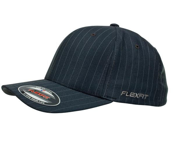FLEXFIT-FLEXFIT Pinstripe Caps-Grey/White / S-M-Uniform Wholesalers - 2