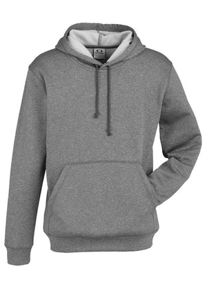Biz Collection-Biz Collection Mens Hype Pull-On Hoodie-Grey Marle / S-Uniform Wholesalers - 2