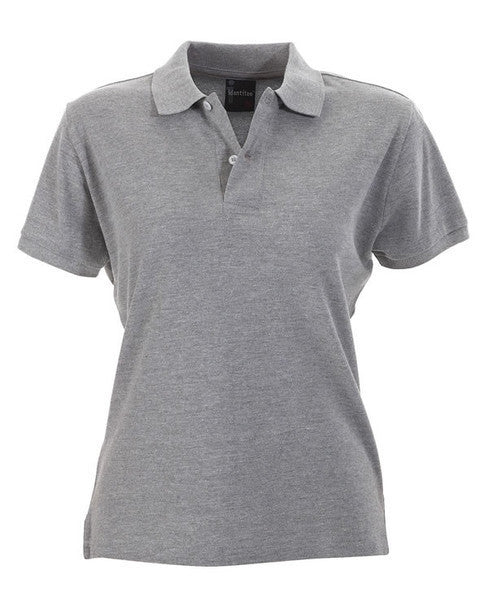 identitee-identitee Ladies Venice Slim Cut Polo Shirt-Grey Marle / 8-Uniform Wholesalers - 5