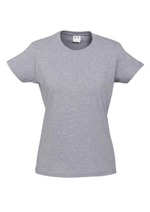 Biz Collection-Biz Collection Ladies Ice Tee 1st ( 10 Colour )-Grey Marle / 6-Uniform Wholesalers - 8