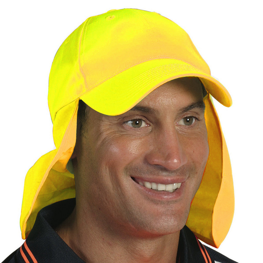 DNC Workwear-DNC HiVis Cap with Flap--Uniform Wholesalers