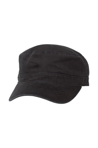 Chef Works-Chef Works Black Military Cap-Black-Uniform Wholesalers