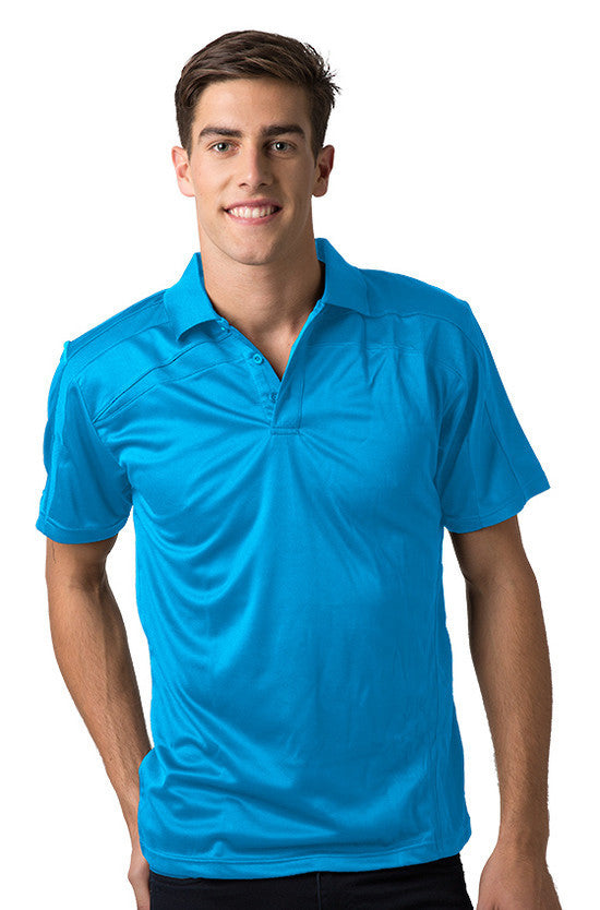 Be Seen-Be Seen Adults Polo Shirt With Contrast Side And Shoulder Panel-Hawaiian Blue / S-Uniform Wholesalers - 8