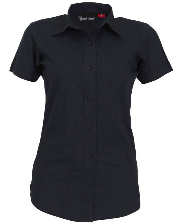 identitee-Identitee Ladies Aston Short Sleeve-Ink / 8-Uniform Wholesalers - 4