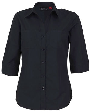identitee-Identitee Ladies Harley 3/4 Sleeve-Ink / 8-Uniform Wholesalers - 4