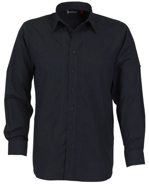 identitee-Identitee Mens Aston Long Sleeve-Ink / S-Uniform Wholesalers - 4