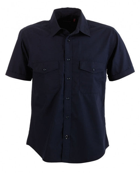 identitee-Identitee Mens Harley Short Sleeve-Ink / S-Uniform Wholesalers - 4