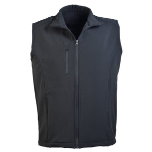 Great Southern-Great Southern Men's Softshell Vest-Black / S-Uniform Wholesalers