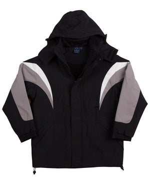 Winning Spirit Tri-colour Jacket with Hood (JK28)