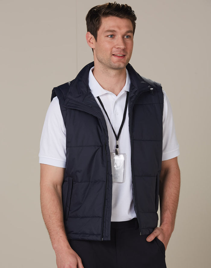 Winning Spirit Men's Nylon Rip-stop Padded Vest (JK29)