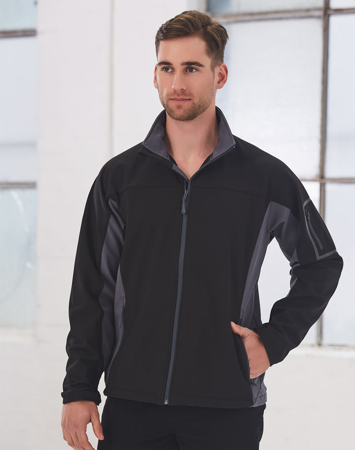 Winning Spirit Men's Whistler Contrast Softshell Jacket (JK31)