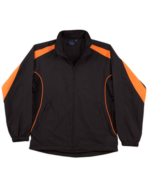 Winning Spirit-Winning Spirit Adults Warm Up Jacket (Unisex)-Black/orange / XS-Uniform Wholesalers - 3
