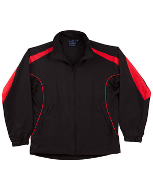 Winning Spirit-Winning Spirit Adults Warm Up Jacket (Unisex)-Black/red / XS-Uniform Wholesalers - 4