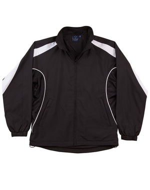 Winning Spirit-Winning Spirit Adults Warm Up Jacket (Unisex)-Black/white / XS-Uniform Wholesalers - 5