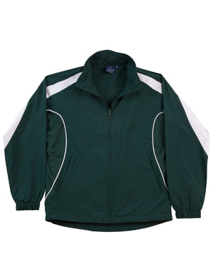 Winning Spirit-Winning Spirit Adults Warm Up Jacket (Unisex)-Bottle/white / XS-Uniform Wholesalers - 6