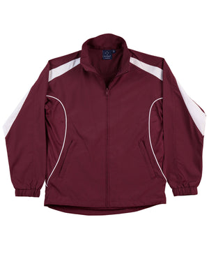 Winning Spirit-Winning Spirit Adults Warm Up Jacket (Unisex)-Maroon/white / XS-Uniform Wholesalers - 7
