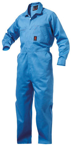 King Gee-King Gee - Summerweight Combination Overalls - 100% Cotton Drill-190gsm-Sky / 84L-Uniform Wholesalers - 2