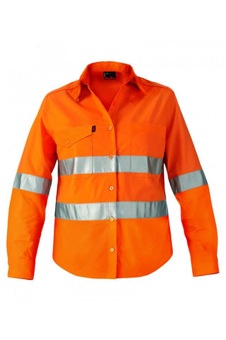 King Gee Workcool 2 Reflective Shirt L/s Hoop Ptn (K44545)